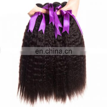 100% brazilian hair kinky straight yaki hair weave
