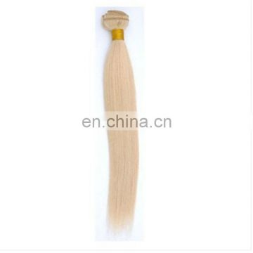 Blonde color hair weave colored indian hair extensions machine sewed 613# color hair extensions