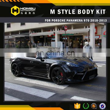 2010-2013 MSY style fiber glass carbon body kit for panamera 970 with hood exhaust and spoiler