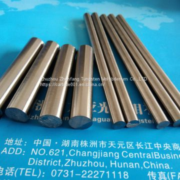 99.95% purity  tungsten rod, tungsten bar, pure tugnsten electrode rod