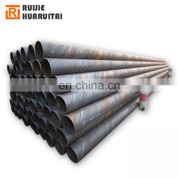 spiral welded pipe mill ssaw steel tube with material x52