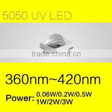Medical Disinfection Applied Quality SMD 5050 LED UV Chip Ultraviolet with 0.1W-3Watts both 365nm and 395nm FACTORY