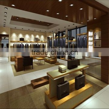 Wooden Clothes Showcase with LED light garment display cabinet                                                                                                         Supplier's Choice