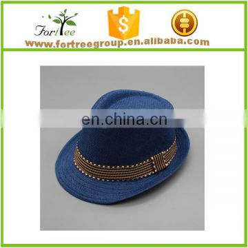 Cheap hot sale fashion jazz hat cotton children beige color autumn summer fedora sun hat men