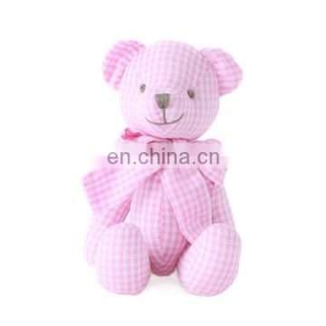 Plaid cotton teddy colors plush soft bear options toy