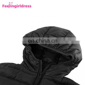 Ultra Light Winter Goose Down Feather Hoodie Down Jacket Women