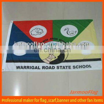 Custom made school flag print polyester flag
