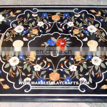 Marble Inlay Table Tops, Inlay Marble Pietra Dura Dining Table Tops