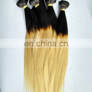 100 Pure Human Hair Extensions Ombre Color Black Rooted Blonde Hair Weave