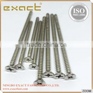 made in China countersunk head phillips DIN7982 self tapping screw