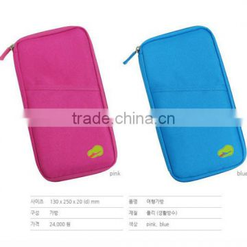 multipurpose Cationic fabric wallet bag pouch bag with passport card pocket travel