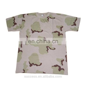 100% cotton camouflage T shirt