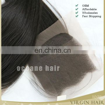 100% Human vrigin raw hair ombre Brazilian hair extension three-partting lace closure 5x5