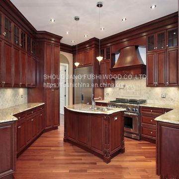 High Quality Wholesale Shaker Solid Wood Modular Kitchen Cabinet