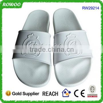 Latest Design Embossed White PU indoor,outdoor,beach Use Beach Sandals