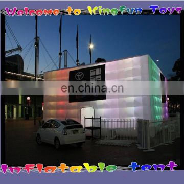 2014 LED inflatable cube tent