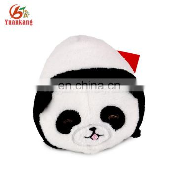 custom make your own small round plush hanging panda pendant keychain stuffed toy