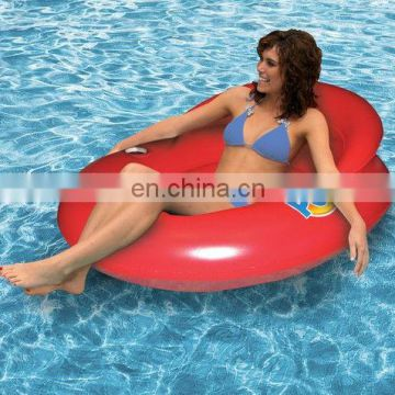 inflatable Water Pop Lounge with cooling mesh seat