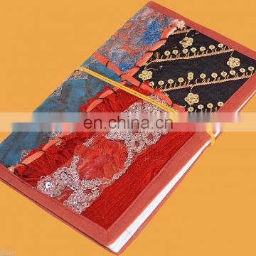HAND EMBROIDERED COVER HAND MADE PAPER ECO FRIENDLY JOURNAL/DIARY FROM INDIA stylish yet elegant Journal/Diary Paper Wholesale