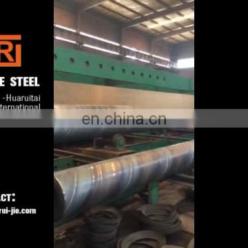 500mmx10mm large diameter SSAW steel pipe price, hot sell piling ssaw spiral weld steel pipe
