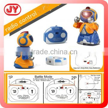Intelligent robot toys battery operated toy robot with sound and light