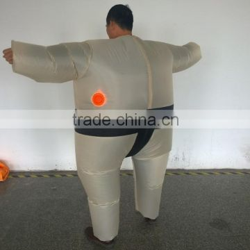 Inflatable Sumo Wrestler Suit Costume Fancy Dress Battery Operated Fan