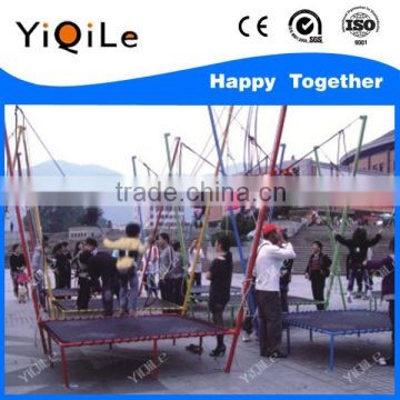 2016 the most popular bungee trampoline on trailer fly bed trampoline bungee mini trampoline