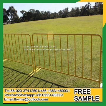 Powder coating temporary fence crowded control barrier