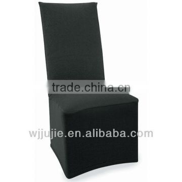 stretch pique raven black dining chair cover
