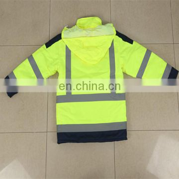 300D Oxford Fabric Waterproof Safety Reflective Jacket
