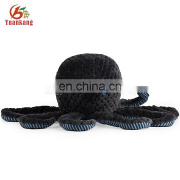 SA8000 OEM black plush stuffed octopus toy