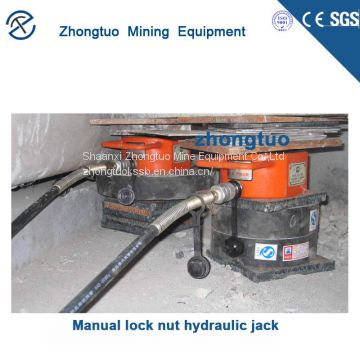 China Manual lock nut hydraulic jack manufacturers