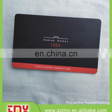 Foil stamping plastic loyalty membership club cards with QR code