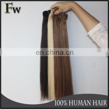 High quality tangle and shedding free blonde brazilian human hair for white people