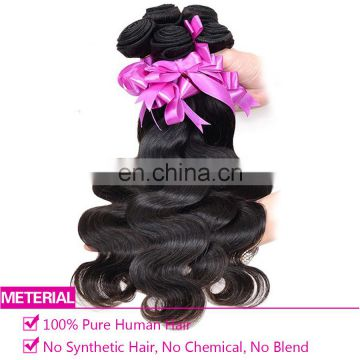 Natural curly hair extensions body wave human hair weft