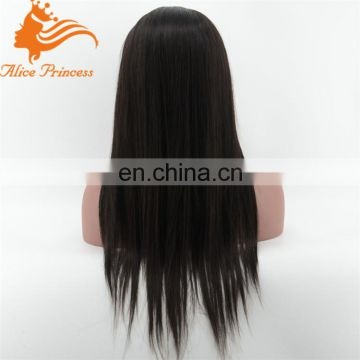 brazilian lace front wigs silk straight full silk top cap lace wig high ponytail silk base full lace wigs