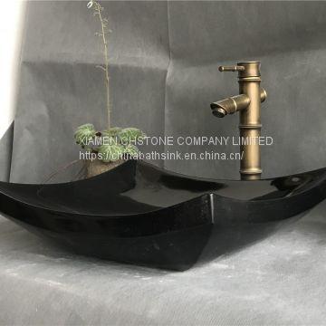 Nero Marquina Marble Bathroom Vessel Rectangular Sink Black Marble Wash  Basin ...