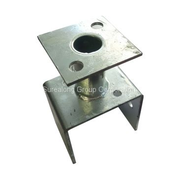 galvanized steel building material hardware timber connector heavy duty post support