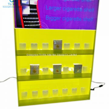 Classic Built-in Light Cigarette Shelf Pusher Display With Pusher Shelf For Cigarette