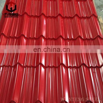 Factory sale Specially Factory Supplier High Quality prepainted galvanized corrugated colored roofing sheet for makeshift house
