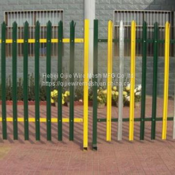 Powder Coated D & W Steel Palisade Fence Black Finished Easily Assembled