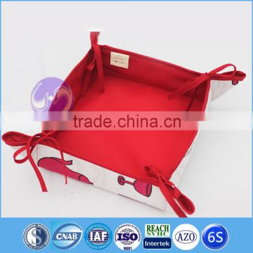 custome printing cotton linen fabric bread basket pattern