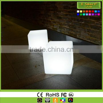 New hot selling color changing RGB led cube/ led cube chair/ kids cube chair