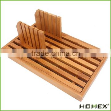 Bamboo Bread Slicer Cutter Guide Homex BSCI/Factory