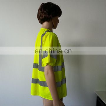 Apparel	high visible made in china fluo yellow extra large EN20471 safety wear V neck t shirt
