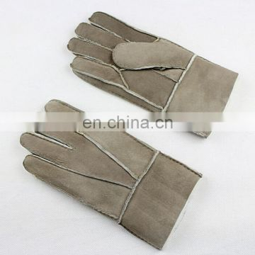 Thicker warm gloves genuine sheep fur gloves for men/women