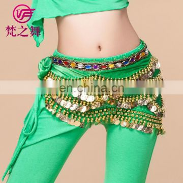 Hot sale egyptian gold coins belly dance hip scarf Y-2034#