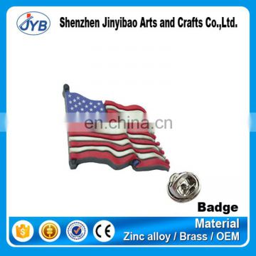 cheap price custom design enamel american flag pin