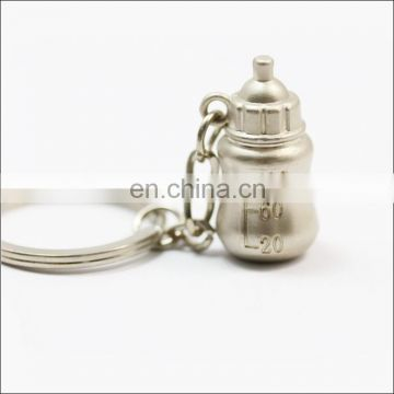 Custom metal keychain small milk pot key ring wholesale