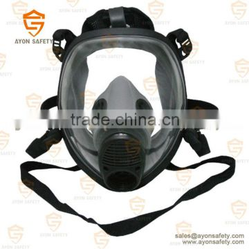 Spherical full face gas mask with single/double connector with anti aging silicon material -Ayonsafety